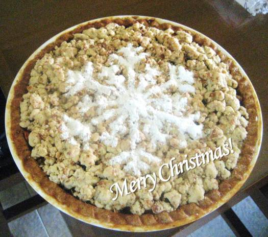 Apple-blueberry crumble - Merry Christmas